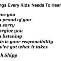 What To Say To Your Kids Every Day
